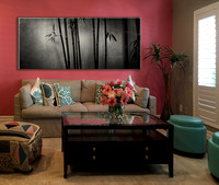 PH webstore display sample living room 2 pink-wall bamboo SunYSen   -1786179