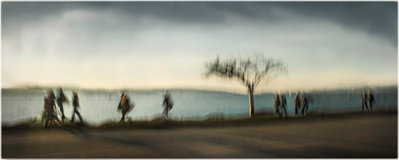 PH2077a folio life is a blur tree and pedestrians english bay sfx zf-0943--0951